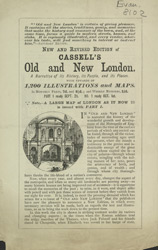 Advert For Cassell's Old And New London